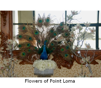 Entrance table in San Diego CA, Flowers Of Point Loma