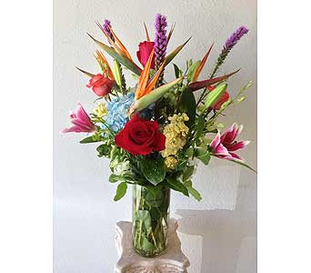 Tropical Vase in Rancho Palos Verdes CA, JC Florist & Gifts