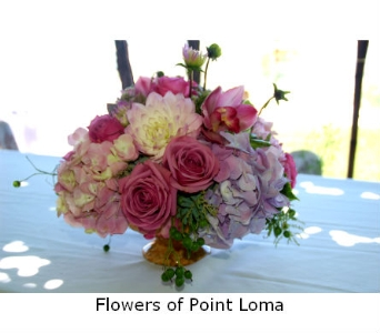 Centerpiece in San Diego CA, Flowers Of Point Loma