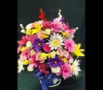 Silk Funeral Basket - Extra Large in Pensacola FL, R & S Crafts & Florist
