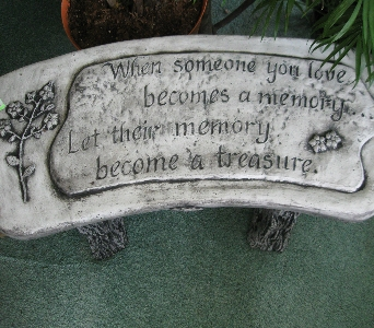 Garden Bench in Oakland City IN, Sue's Flowers & Gifts