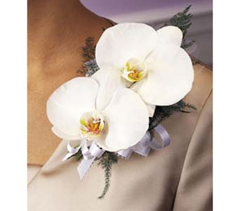 Double Phalaenopsis Corsage in Brooklyn NY, Enchanted Florist