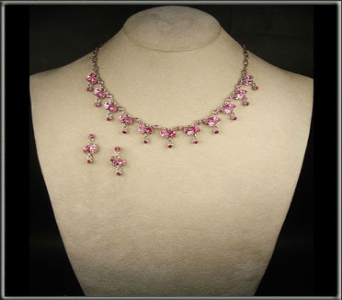 Pink Swarovski set in Ashford AL, The Petal Pusher