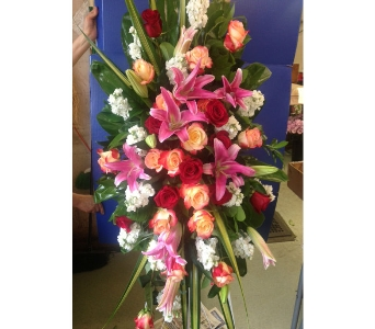 Lavishly Lovely Funeral Spray in Nashville TN, Emma's Flowers & Gifts, Inc.