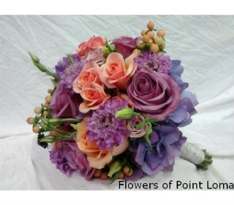Lavender & Peach   in San Diego CA, Flowers Of Point Loma