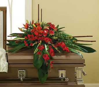 In His Honor Casket Spray in Albuquerque NM, Silver Springs Floral & Gift