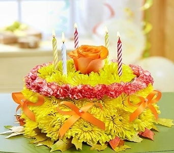 BIRTHDAY FLOWER CAKE in Port Charlotte FL, Punta Gorda Florist Inc.
