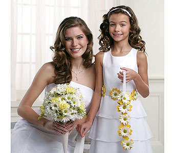 Yellow Wedding 4 in Albuquerque NM, Silver Springs Floral & Gift