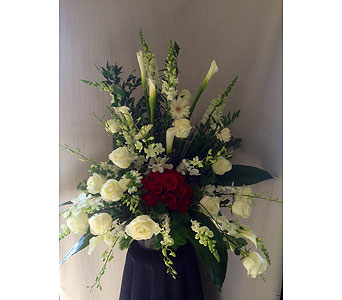 Contemporary rose sympathy arrangement  in Carmichael CA, Bettay's Flowers