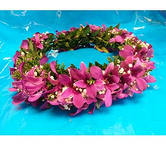 Purple Haku Head Lei in Kihei HI, Kihei-Wailea Flowers By Cora