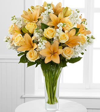 Admiration Luxury Rose & Lily Bouquet in Hollister CA, Barone's Westlakes Balloons and Gifts
