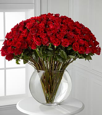 Breathless Luxury Rose Bouquet - 100 Stems of Rose in Hollister CA, Barone's Westlakes Balloons and Gifts