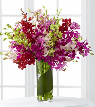 Luminous Luxury Orchid Bouquet  in Hollister CA, Barone's Westlakes Balloons and Gifts