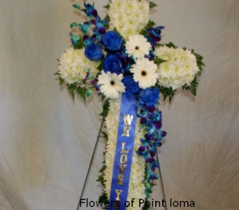 Cross in San Diego CA, Flowers Of Point Loma