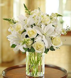 SIMPLY ELEGANCE WITH ROSES AND LILIES BOUQUET in Vienna VA, Vienna Florist & Gifts