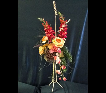 Orange Accent Silk Home Decor in Pensacola FL, R & S Crafts & Florist