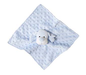 Security Baby Blankie Blue Puppy in Detroit and St. Clair Shores MI, Conner Park Florist