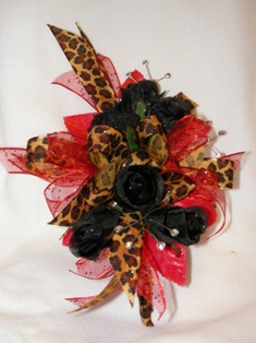 Cheetah - Black & Red Corsage in Lake Charles LA, A Daisy A Day Flowers & Gifts, Inc.