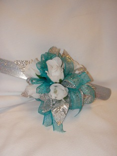 Blue & White Corsage in Lake Charles LA, A Daisy A Day Flowers & Gifts, Inc.