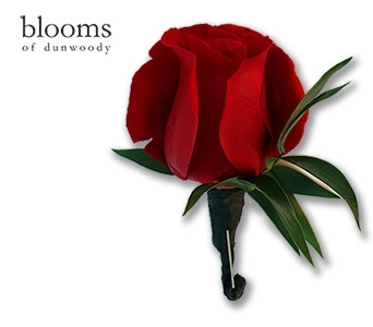 Red Rose Boutonniere in Dunwoody GA, Blooms of Dunwoody