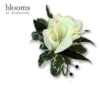 White Freesia Boutonniere in Dunwoody GA, Blooms of Dunwoody