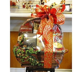 Wine Glass & Wine Gourmet Basket in Tampa FL, Buds, Blooms & Beyond