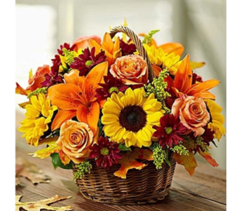 Fields of Europe� for Fall Basket in Watertown CT, Agnew Florist