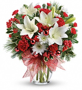 Merry All The Way Bouquet in Waukegan IL, Larsen Florist