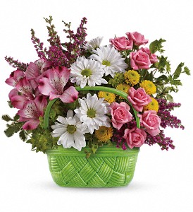 Teleflora's Basket Of Beauty Bouquet in The Woodlands TX, Rainforest Flowers