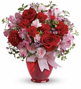 Teleflora's Blissfully Yours Bouquet in Bluffton IN, Posy Pot