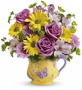 Teleflora's Butterfly Serenity Bouquet in Pawnee OK, Wildflowers & Stuff