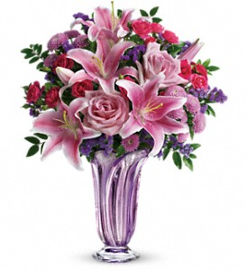 Teleflora's Lavender Grace Bouquet in Charleston WV, Food Among The Flowers