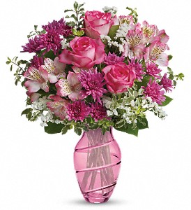 Teleflora's Pink Bliss Bouquet in Cocoa FL, A Basket Of Love Florist