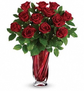 Teleflora's Red Radiance Bouquet in The Woodlands TX, Rainforest Flowers