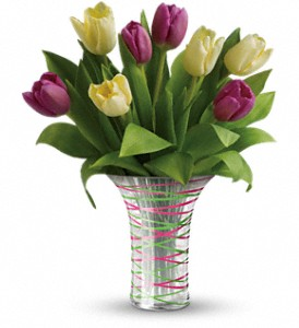 Teleflora's Singing Of Spring Bouquet in Oklahoma City OK, Array of Flowers & Gifts