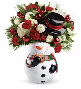 Teleflora's Sweet Snowman Bouquet in San Jose CA, Almaden Valley Florist