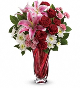 Teleflora's Swirling Beauty Bouquet in Santa Clara CA, Cute Flowers