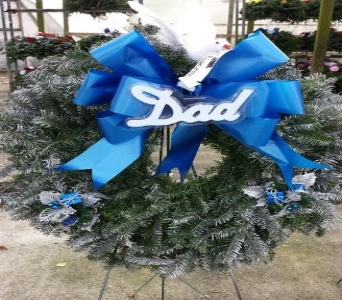 Blue Wreath in Westland MI, Westland Florist & Greenhouse