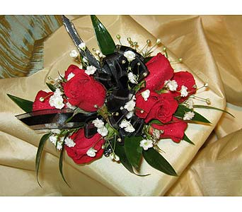 Red with Black in Wake Forest NC, Wake Forest Florist