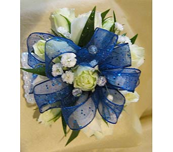 White & Blue with Pearls in Wake Forest NC, Wake Forest Florist