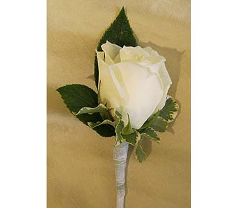 White Rose Bout with Greenery in Wake Forest NC, Wake Forest Florist