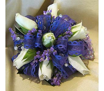 White with Purple in Wake Forest NC, Wake Forest Florist