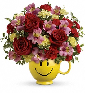 So Happy You're Mine Bouquet by Teleflora in McHenry IL, Locker's Flowers, Greenhouse & Gifts