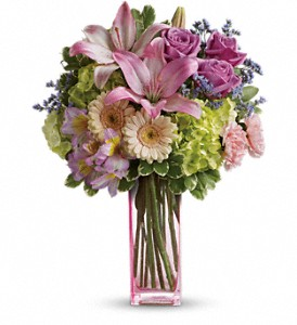 Teleflora's Artfully Yours Bouquet in Hendersonville NC, Forget-Me-Not Florist