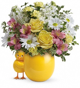 Teleflora's Sweet Peep Bouquet - Baby Pink in Pine Brook NJ, Petals Of Pine Brook