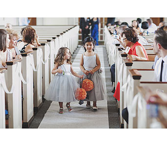 Flower Girls with Rose Ball in Somerset NJ, Flower Station