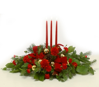 Christmas Traditions Centerpiece in Little Rock AR, Tipton & Hurst, Inc.
