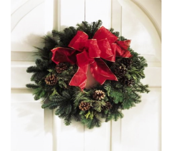 Fresh Christmas Wreath (Decorated) in Indianapolis IN, George Thomas Florist