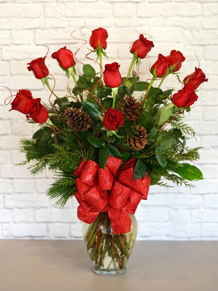 Christmas Deluxe Dozen in Clarks Summit PA, McCarthy-White's Flowers