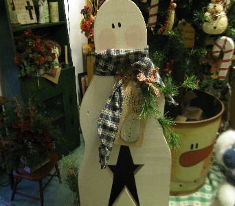 Wooden Snowman Light in Oakland City IN, Sue's Flowers & Gifts